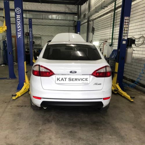 Удаление катализатора Ford Fiesta